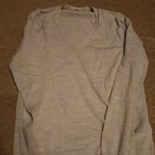ムジルシリョウヒン(MUJI (無印良品))の無印良品ウールシルクニット&ユニクロカーディガン(ニット/セーター)