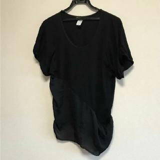 ナンバーヨンジューヨン(n°44)のナンバー44の半袖カットソー ブラック(カットソー(半袖/袖なし))