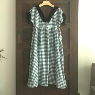 ミナペルホネン(mina perhonen)のドゥーブルメゾン ガーデンドレス ワンピース(ひざ丈ワンピース)