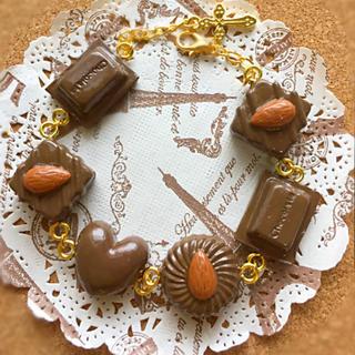 チョコレートブレスレット ハンドメイド(ブレスレット/バングル)
