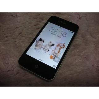 アップル(Apple)のiPhone4 16GB softbank No1152 USB充電ケーブル付き(スマートフォン本体)