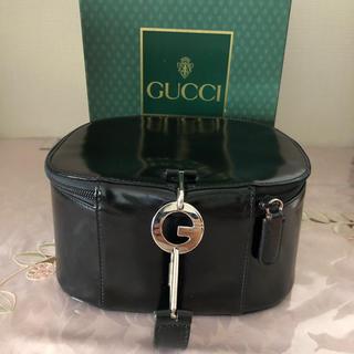 グッチ(Gucci)のGUCCI  バニティバッグ   GG金具   エナメル  希少(その他)
