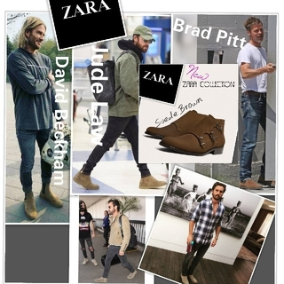 ZARA - 新品 セール♦ZARA ブーツ 牛革♦目が釘付け素敵過ぎ✰美しい男の格上げ