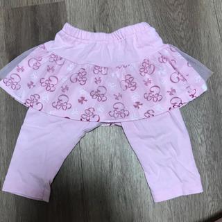 ディズニー(Disney)のミニーちゃんスパッツ付きスカート☆70センチ(スカート)