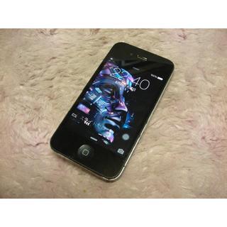 アップル(Apple)のiPhone4 16GB softbank No1153 USB充電ケーブル付き(スマートフォン本体)