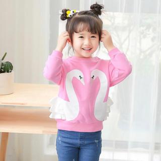 ピンク白鳥t(Tシャツ/カットソー)