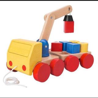 KEA  MULAシリーズ  クレーン車  木のおもちゃ(積み木/ブロック)