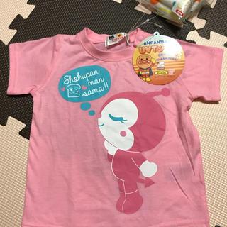 アンパンマン Tシャツ ドキンちゃんプリント  新品タグ付  80cm タオル付(Tシャツ)