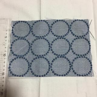 ミナペルホネン(mina perhonen)の15×21 ミナペルホネン はぎれ 生地 ブルー(生地/糸)