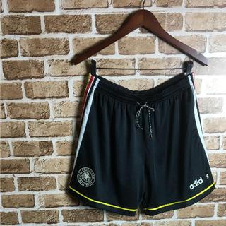 アディダス(adidas)のドイツ代表! 90s adidas サッカー ユニフォーム ショートパンツ 黒白(ショートパンツ)