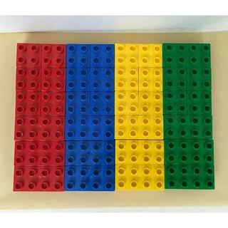レゴ(Lego)のレゴ デュプロ 基本ブロック 長方形 正方形 4色 セット 赤 青 黄 緑(積み木/ブロック)
