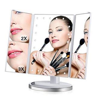 化粧鏡 メイク ミラー  三面鏡 2倍&3倍拡大鏡(その他)
