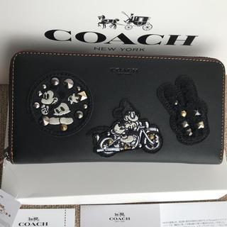 コーチ(COACH)のコーチ 長財布 coach  ラウンドファスナー ミッキーコラボ(財布)