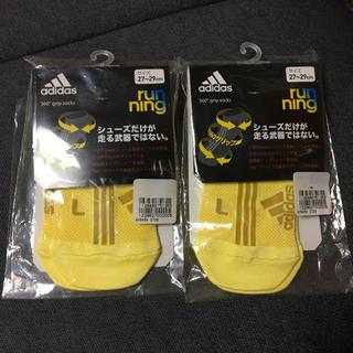 アディダス(adidas)のアディゼロ 新品未使用 ランニングソックス 2足セット 27-29cm(ソックス)
