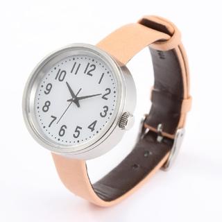 ムジルシリョウヒン(MUJI (無印良品))の無印良品 公園の時計小 ヌメ革 腕時計 MJ-PCWS2 ソーラー 公園の時計小(腕時計)