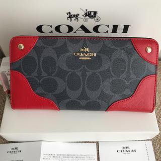 コーチ(COACH)のコーチ 長財布 coach  ラウンドファスナー PVCレザー(財布)