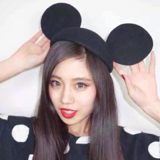 ディズニー(Disney)のミッキー 帽子 ディズニー インスタ ベレー カチューシャ(カチューシャ)