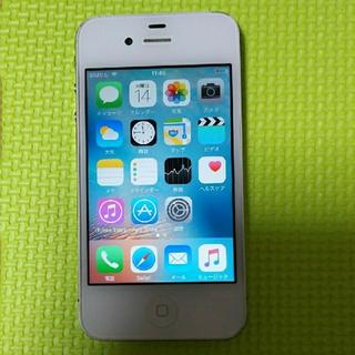アップル(Apple)の美品!iPhone 4s 白 ☆(スマートフォン本体)