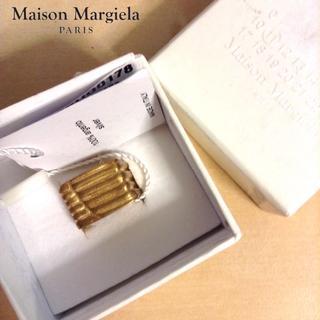 マルタンマルジェラ(Maison Martin Margiela)の新品■マルジェラ16aw■シルバー925使用■ゴールドシグネットリング■2839(リング(指輪))