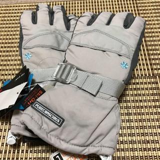 新品  M スキー手袋 スキーグローブ シンサレート 合成皮革 ナイロン100%(ウエア/装備)