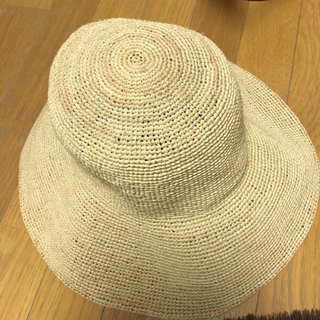 ムジルシリョウヒン(MUJI (無印良品))の無印ラフィア帽子(麦わら帽子/ストローハット)