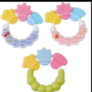 ガラガラ 歯固め おもちゃ 赤ちゃん ベビー(がらがら/ラトル)