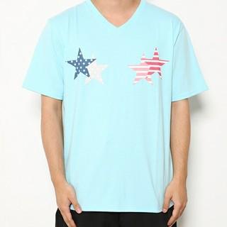 ロデオクラウンズワイドボウル(RODEO CROWNS WIDE BOWL)の新品✩RODEO CROWNS✩RCWB✩メンズフラッグスターTシャツ(Tシャツ/カットソー(半袖/袖なし))