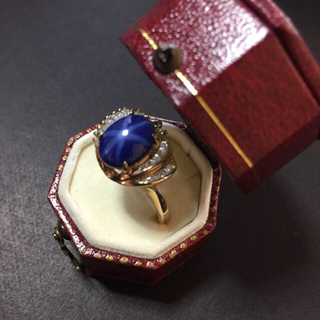スターサファイアリング&ハートの石のシルバーリング2点(真優様専用)(リング(指輪))