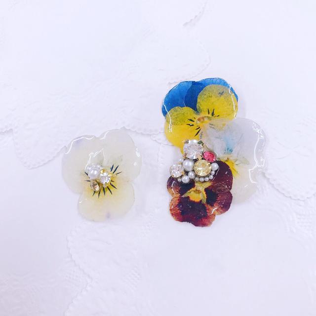 ビオライヤーカフセット ハンドメイドのアクセサリー(イヤリング)の商品写真