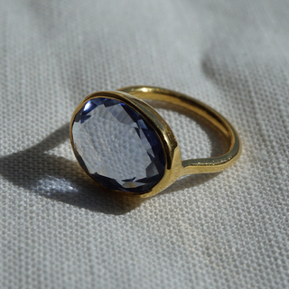 ☆*:.。. クォーツのリング(アイオライトカラー) .。.:*☆(リング(指輪))