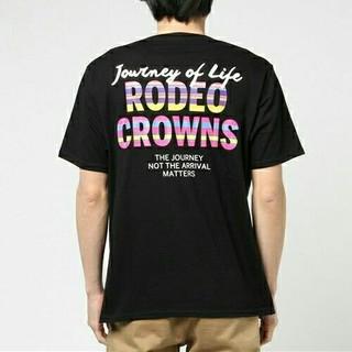 ロデオクラウンズワイドボウル(RODEO CROWNS WIDE BOWL)の新品✩RODEO CROWNS✩RCWB☆メンズカラフルボーダーフラッグTシャツ(Tシャツ/カットソー(半袖/袖なし))