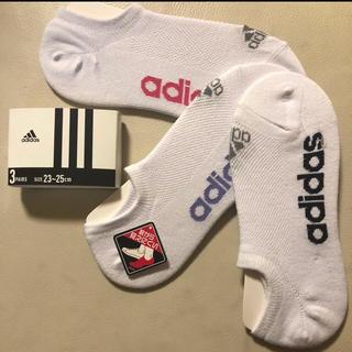 アディダス(adidas)の新品 アディダス 靴下 3色 3P クルーソックス 白 adidasフロントロゴ(ソックス)