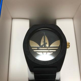 アディダス(adidas)のadidasの時計 黒 金 [美品](腕時計(アナログ))