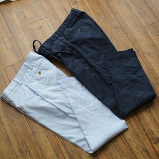 ユニクロ(UNIQLO)のユニクロ スラックス パンツ 2枚 Sサイズ 身長160cm(スラックス)