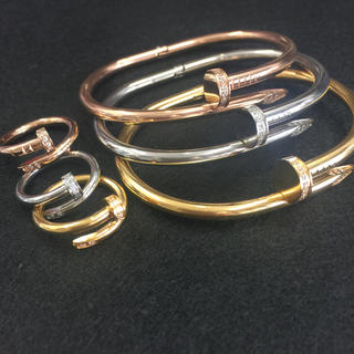 「高級品」セット売り!チタンステンレス釘ブレス&リング(リング(指輪))