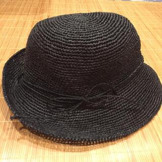 無印良品 ラフィア帽子
