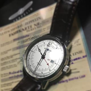 ツェッペリン(ZEPPELIN)のくろ6719様専用美品《ツェッペリン》100周年記念モデルGMT機能付き(腕時計(アナログ))