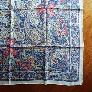 ラルフローレン(Ralph Lauren)のRALPH LAUREN ペイズリー柄 シルクスカーフ(バンダナ/スカーフ)