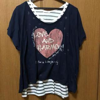 ハニーズ(HONEYS)の【汚れなし】Tシャツ タンクトップ ネックレス 3点セット アンサンブル(アンサンブル)