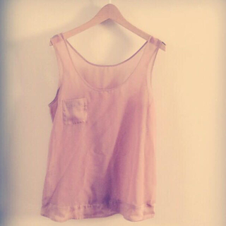 ジーユー(GU)の【GU】シースルータンクトップ(Tシャツ(半袖/袖なし))