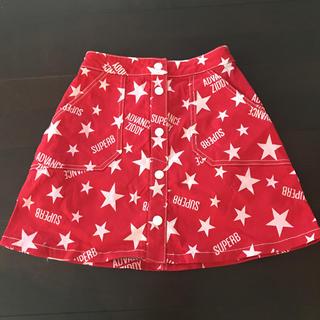 ジディー(ZIDDY)のZIDDY 総柄 スカート ウエスト調整可能 F(スカート)