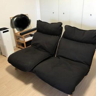ムジルシリョウヒン(MUJI (無印良品))の無印良品 MUJI ハイバック リクライニング ソファ 2シーター(二人掛けソファ)