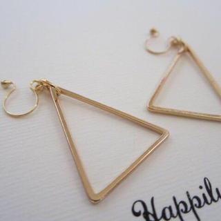 二等辺三角ノンホールピアス(イヤリング)