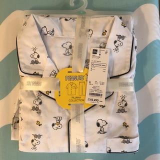 ジーユー(GU)のGU メンズ パジャマ 半袖 ピーナッツ スヌーピー Lサイズ(その他)