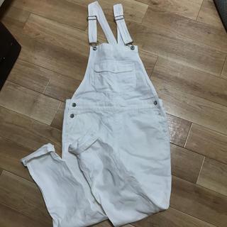 GU - GU ホワイトサロペットオールインワン