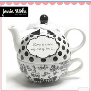 ジェシースティール(Jessie Steele)のジェシースティール ティーポット ティーカップ(収納/キッチン雑貨)