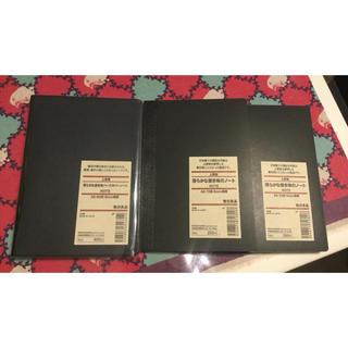 ムジルシリョウヒン(MUJI (無印良品))の未使用★無印良品★滑らかな書き味のノート 3冊セット サイズA6(ノート/メモ帳/ふせん)
