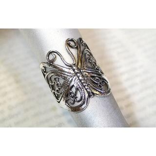 SR1458 指輪シルバー925刻リング19号 蝶々 チョウチョウ ちょうちょう(リング(指輪))