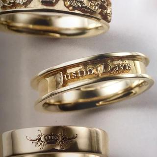ジャスティンデイビス(Justin Davis)の◆K18◆新品◆JUSTIN DAVIS◆ゴールドロゴリング◆17号◆(リング(指輪))