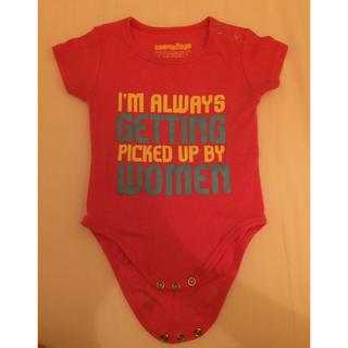 ベビーギャップ(babyGAP)のインポート ロンパース 英語 50 60 70 新生児 レッド ピンク 男の子(ロンパース)